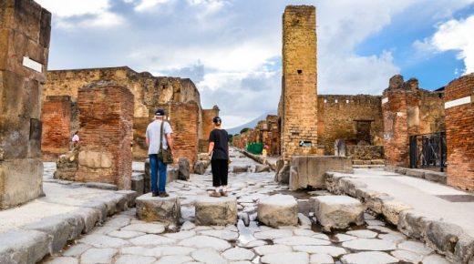 Gli itinerari degli scavi di Pompei