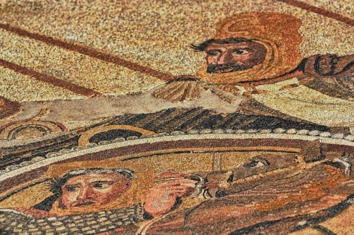 Casa del Fauno a Pompei: mosaico di Alessandro Magno