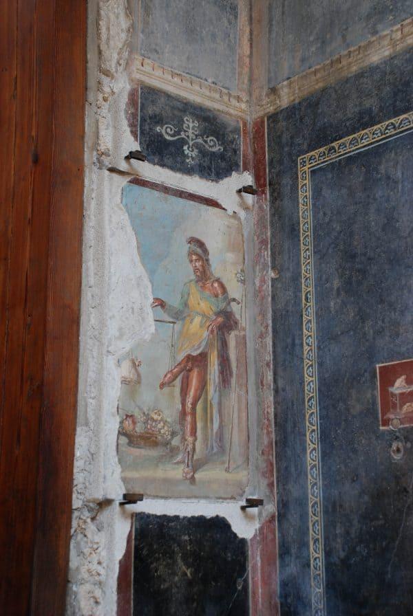 La casa dei Vettii a Pompei: l'affresco di Priapo