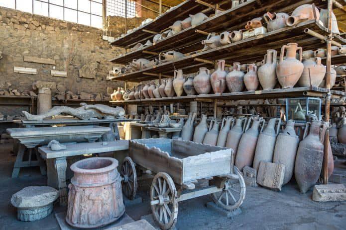 Visita a Pompei con bambini: i granai del Foro